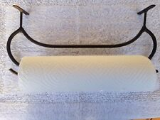 Under the counter paper towel rack, canoe shaped rustic decor