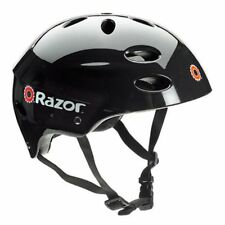 Razor V17 Youth Skateboard/Scooter/Bike Sport Helmet, Glossy Black | 97778