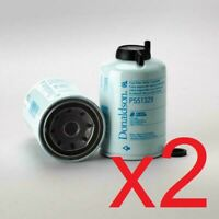 2x Diesel Fuel Filter / Water Separator Donaldson P551329