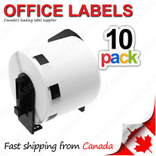 10 Rolls of DK-1209 BROTHER® Compatible Labels With 1 Reusable Cartridge