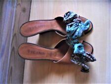 Vicini Italy Pantoletten Gr. 37 Echtleder /Textil