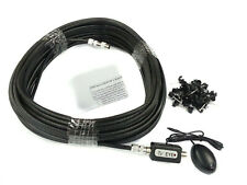 10M Black RG6 Coax Cable Plus Global Magic Eye TV Link Kit Fits Sky + HD Boxs