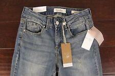 NEW Jessica Simpson Jeans Womens Size 25 Distressed Uptown Slim Flare NWT Dark