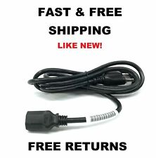 Universal Black Power Cable Cord | 6' Foot for Computer Monitor TV XBox LCD LED