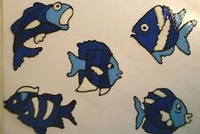 Window Color Fensterbilder 5 Fische Nr.2 blau