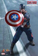 Hot Toys Capitán América 1:6 figura de la guerra civil