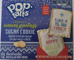 New Pop Tarts Toaster Pastries Sugar Cookie Flavor Limited Edition 12 Count
