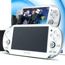 "SONY PS Vita Crystal White PCH-1000 OLED Wi-Fi w/ Charger, Box ""Near Mint"""
