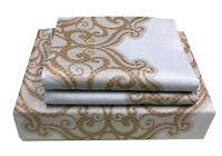 CC&DD-100% High Quality Paisley Printing Cotton Duvet Cover Set, 400 TC, Zipper