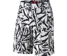 Mens Size 34 Nike Prodigy Summer Solstice Shorts White Black Print 728695 100