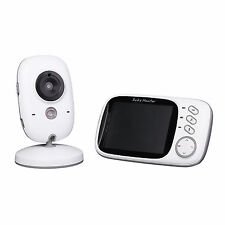 "2.4G 3.2"" Digital Wireless Baby Monitor Night Vision Video Audio Nanny Camera"