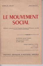 LE MOUVEMENT SOCIAL - octobre 1960 - mars 1961, Numéro double 33-34
