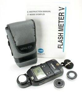 Minolta Flash Meter V [also for incident light] w/instruction book, accessories