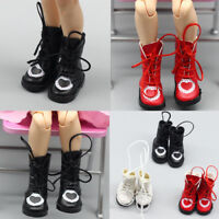 1pair pu cuirs 1/8 poupées bottes chaussures pour BJD 1/6 Dolls Blythe Licca JB