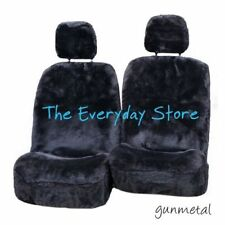 Toyota Landcruiser 79 Series Titanium Sheepskin Seat Covers A/O Btm Pr 35mm TC