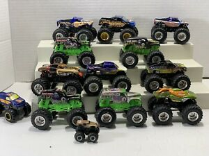 Lot of 13 Hot Wheels Monster Jam 1:64 Trucks Grave Digger Mutt TMNT Rare