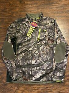 Under Armour UA ¼ Zip  Hunting Jacket Mossy Oak Treestand Camo 2XL