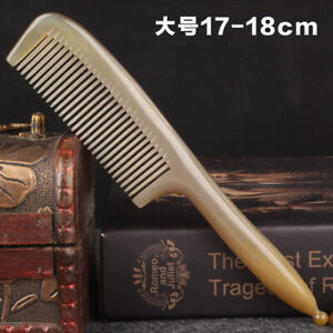 Natural Ox Horn Comb Massage Comb Thickened Yak Horn Hair Comb Massage Brush