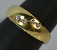 18 Carat Yellow Gold and Diamond Band Stack Ring p0507