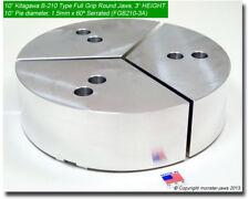 "10"" Full Grip Round Jaws Aluminum for B-210 Type Lathe Chucks (3.0"" HT, 10"" Dia)"