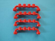 Lego 6 x Absperrung Zaun 6140 rot 1x6