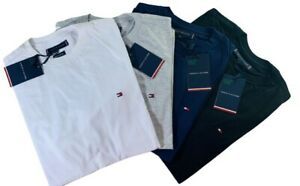 Tommy Hilfiger Small Logo Crew Neck Slim Fit Cotton T-Shirt For Men