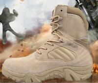 Mens Desert Combat High Top Zipper Bots Military Tactical Outdoor Army Shoes sz