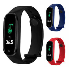 Smart Watch Wristband Body Temperature Heart Rate Blood Oxygen Pressure Monitor
