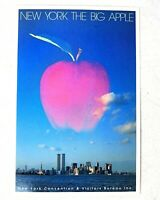Vintage 80s New York Big Apple World Trade Center Twin Towers Photo Postcard