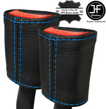 Blue Stitch 2X Anteriore Cintura in pelle copre si adatta MERCEDES CLASSE A W176 12-16