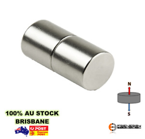 2X Strong 12mm x 16mm N45 Cylinder Disc Magnets | Neodymium Rare Earth Art Model