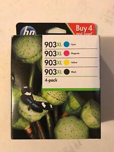 Genuine HP 903XL Multipack 4-Pack BK/C/Y/M Printer Ink Cartridges VAT.Inc 2022