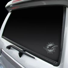 Miami Dolphins Chrome Window Graphic [NEW] Silver Sticker Decal Car Auto NFL