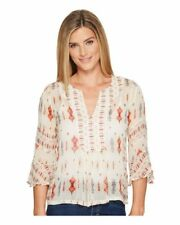 Lucky Brand Women's Mix Print Boho Top Size Large 7W44078 NWT