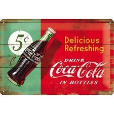 Coca Cola Blechschild 20x30 cm Nostalgic Art Retro  Delicious Ref Green
