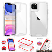 For iPhone 11 / 11 Pro Max Case Clear Shockproof Heavy Duty Rugged Armor Cover