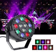 12W RGBW Sound Music Active LED Stage Strobe Par Light DMX-512 Party KTV Disco