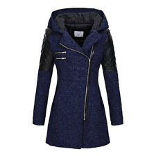 Womens' Trench Coats Winter Long Jacket Hoodie Side Zip Thick Outerwear 2020 New