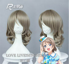 Love Live Sunshine Watanabe You Cosplay Party Wig Gray Short Hair cos wigs