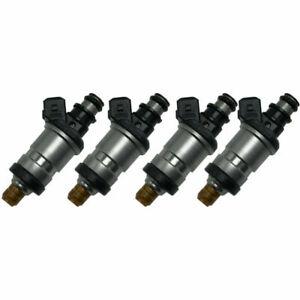 Set (4) Flow Matched Fuel Injector For 92-95 Honda Civic del Sol 1.5 1.6 l4 OBD1