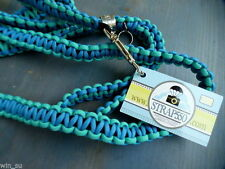 NEW$55~Bright Teal BLUE~STRAP550 Parachute cord braided 5'DOG LEASH~Gift~FreeS&H