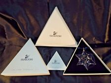 10th Issue 2000 SWAROVSKI  Christmas STAR MIB Complete Box, COA, Sleeve- MIB