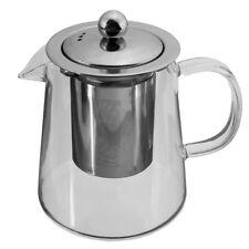 Tea Pot Coffee Kettle 600ml Glass Heat Resistant Teapot Dripper Herbal Leaf Set