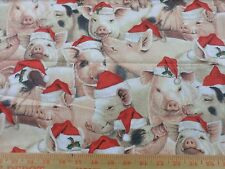 20 Santa baby Pigs Red Christmas Tree Skirt made4u quilted Table top Size