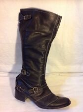 Principles Black Knee High Leather Boots Size 39