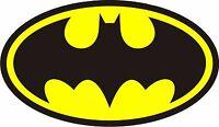 Batman Logo Decal Die cut Vinyl Sticker 4 Stickers 4 inches