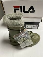 Fila Disruptor Shearling Boots Green | eBay