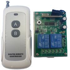 12V 2 Channels Wireless RF Remote Control Switch Relay  Alarm FOB Key Remote