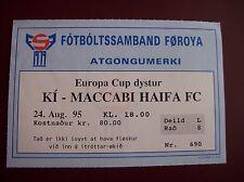 ticket ITROTTARFFELAG - MACCABI HAIFA 24/8/1995 C2