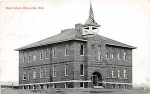 H66/ Wilsonville Nebraska Postcard c1914 High School Building  46